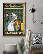 MAN ALSO NEEDS A STAFFORDSHIRE BULL TERRIER 11x17 Poster lifestyle-poster-1