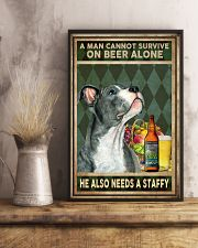 MAN ALSO NEEDS A STAFFORDSHIRE BULL TERRIER 11x17 Poster lifestyle-poster-3