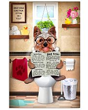 YORKSHIRE TERRIER PUPPY SITTING ON A TOILET 11x17 Poster front