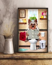 YORKSHIRE TERRIER PUPPY SITTING ON A TOILET 11x17 Poster lifestyle-poster-3