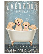 LABRADOR PUPPIES SITTING ON A BATH SOAP 11x17 Poster front