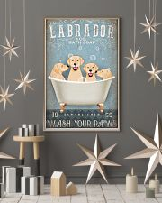 LABRADOR PUPPIES SITTING ON A BATH SOAP 11x17 Poster lifestyle-holiday-poster-1