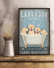 LABRADOR PUPPIES SITTING ON A BATH SOAP 11x17 Poster lifestyle-poster-3