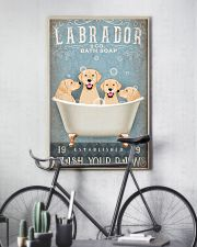 LABRADOR PUPPIES SITTING ON A BATH SOAP 11x17 Poster lifestyle-poster-7