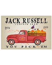 JACK RUSSELL DOG RED TRUCK PUMPKIN FARM 17x11 Poster front