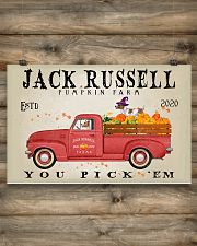 JACK RUSSELL DOG RED TRUCK PUMPKIN FARM 17x11 Poster poster-landscape-17x11-lifestyle-14