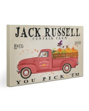 JACK RUSSELL DOG RED TRUCK PUMPKIN FARM Gallery Wrapped Canvas Prints tile