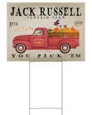 JACK RUSSELL DOG RED TRUCK PUMPKIN FARM Yard Signs tile