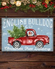 BULLDOG RED TRUCK CHRISTMAS 17x11 Poster aos-poster-landscape-17x11-lifestyle-27