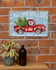 BULLDOG RED TRUCK CHRISTMAS 17x11 Poster poster-landscape-17x11-lifestyle-23