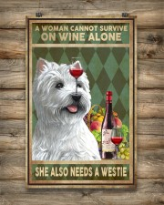 WOMAN ALSO NEEDS A WEST HIGHLAND WHITE TERRIER DOG 11x17 Poster aos-poster-portrait-11x17-lifestyle-14