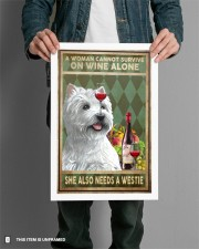 WOMAN ALSO NEEDS A WEST HIGHLAND WHITE TERRIER DOG 11x17 Poster aos-poster-portrait-11x17-lifestyle-28