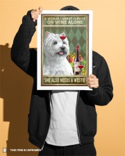 WOMAN ALSO NEEDS A WEST HIGHLAND WHITE TERRIER DOG 11x17 Poster aos-poster-portrait-11x17-lifestyle-31