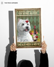WOMAN ALSO NEEDS A WEST HIGHLAND WHITE TERRIER DOG 11x17 Poster aos-poster-portrait-11x17-lifestyle-36