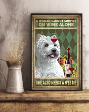 WOMAN ALSO NEEDS A WEST HIGHLAND WHITE TERRIER DOG 11x17 Poster lifestyle-poster-3