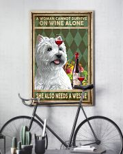 WOMAN ALSO NEEDS A WEST HIGHLAND WHITE TERRIER DOG 11x17 Poster lifestyle-poster-7