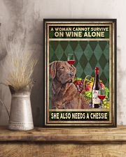 WOMAN ALSO NEEDS A CHESSIE 11x17 Poster lifestyle-poster-3