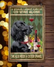 WOMAN ALSO NEEDS A COCKER SPANIEL DOG 11x17 Poster aos-poster-portrait-11x17-lifestyle-24