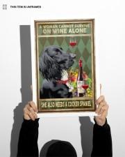 WOMAN ALSO NEEDS A COCKER SPANIEL DOG 11x17 Poster aos-poster-portrait-11x17-lifestyle-36
