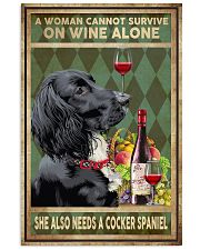 WOMAN ALSO NEEDS A COCKER SPANIEL DOG 11x17 Poster front