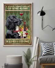 WOMAN ALSO NEEDS A COCKER SPANIEL DOG 11x17 Poster lifestyle-poster-1