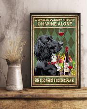 WOMAN ALSO NEEDS A COCKER SPANIEL DOG 11x17 Poster lifestyle-poster-3
