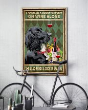 WOMAN ALSO NEEDS A COCKER SPANIEL DOG 11x17 Poster lifestyle-poster-7