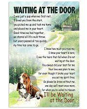 BASSET HOUND DOG WAITTING AT THE DOOR 11x17 Poster front