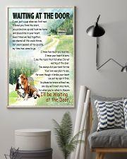 BASSET HOUND DOG WAITTING AT THE DOOR 11x17 Poster lifestyle-poster-1