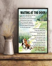 BASSET HOUND DOG WAITTING AT THE DOOR 11x17 Poster lifestyle-poster-3