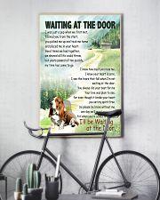 BASSET HOUND DOG WAITTING AT THE DOOR 11x17 Poster lifestyle-poster-7