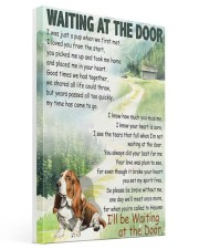 BASSET HOUND DOG WAITTING AT THE DOOR Gallery Wrapped Canvas Prints tile