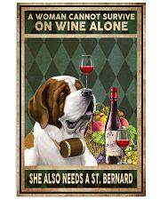 WOMAN ALSO NEEDS A SAINT BERNARD 11x17 Poster front