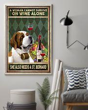 WOMAN ALSO NEEDS A SAINT BERNARD 11x17 Poster lifestyle-poster-1