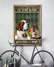 WOMAN ALSO NEEDS A SAINT BERNARD 11x17 Poster lifestyle-poster-7