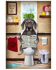 WEIMARANER PUPPY SITTING ON A TOILET 11x17 Poster front