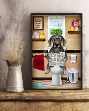 WEIMARANER PUPPY SITTING ON A TOILET 11x17 Poster lifestyle-poster-3