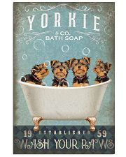 YORKSHIRE TERRIER PUPPIES ON BATH TUB 11x17 Poster front