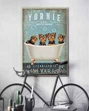 YORKSHIRE TERRIER PUPPIES ON BATH TUB 11x17 Poster lifestyle-poster-7