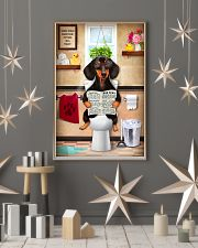 FUNNY DACHSHUND PUPPY SITTING ON A TOILET 11x17 Poster lifestyle-holiday-poster-1
