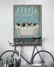 PUG PUPPY SITTING ON BATH SOAP 11x17 Poster lifestyle-poster-7