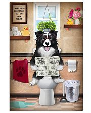 BORDER COLLIE PUPPY ON THE TOILET  11x17 Poster front