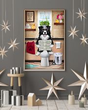 BORDER COLLIE PUPPY ON THE TOILET  11x17 Poster lifestyle-holiday-poster-1