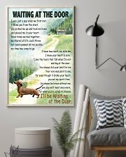 DACHSHUND DOG WAITING AT THE DOOR 11x17 Poster lifestyle-poster-1