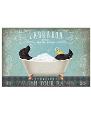 LABRADOR PUPPY SITTING ON A BATH SOAP 17x11 Poster front
