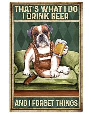BOXER DOG DRINK BEER AND FORGET THINGS 11x17 Poster front