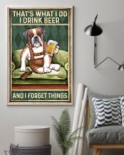 BOXER DOG DRINK BEER AND FORGET THINGS 11x17 Poster lifestyle-poster-1