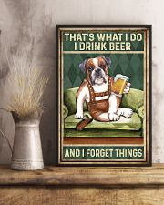 BOXER DOG DRINK BEER AND FORGET THINGS 11x17 Poster lifestyle-poster-3