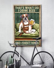 BOXER DOG DRINK BEER AND FORGET THINGS 11x17 Poster lifestyle-poster-7