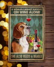 WOMAN ALSO NEEDS A BEAGLE DOG 11x17 Poster aos-poster-portrait-11x17-lifestyle-24
